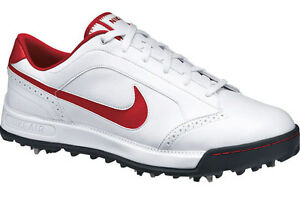 NIKE-AIR-ANTHEM-CLOSEOUT-GOLF-MENS-SHOES-WHITE-RED-NEW