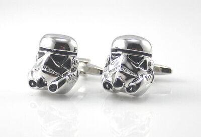 Cufflinks Novelty * Movies, Games, TV * Star Wars 3D Storm Trooper Black/Silver