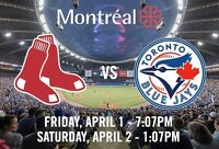 Black Friday - RED SOX vs BLUE JAYS in Montreal - 01 avril 2016