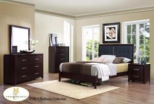 5pc Edina Queen Bedroom Set Model 2145Set includes Queen or Double Bed with Dresser with Mirror.