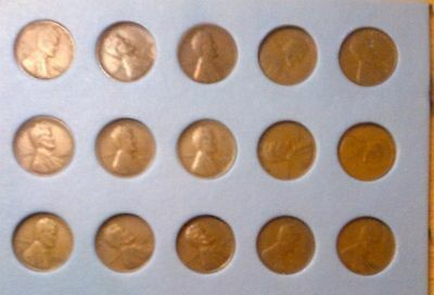 PreTeen & Teen Set Lincoln Cents(Pennies)PDS, 1909 - 1919; Includes Semi-Keys