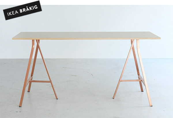Ikea BrÅkig Rare 2017 Limited Edition Trestle Table Desk