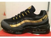 BRAND NEW NIKE AIRMAX 95S 110S BLACK AND GOLD ANY SIZE 6 TO 11