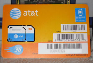 AT&T GoPhone Sim Card USA Prepaid Roaming iPhone