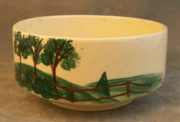 Brush USA Pottery Planter Bowl Pasture Painted Signed