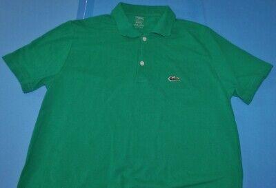 Boys Lacoste Green Short Sleeve Shirt XXL