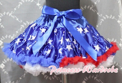 Royal Blue Patriotic Star Tutu Skirt Dance Party Dress For Girl Adult Women Lady - Blue Tutu For Adults