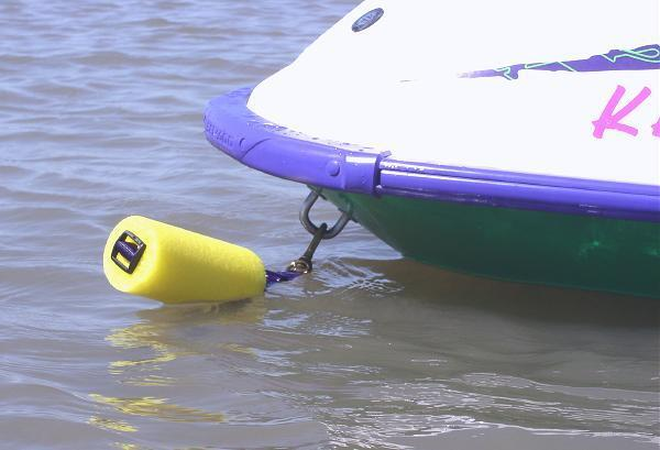 Persomal Watercraft Beach Anchor Mooring Buoy System Yellow float/Black strap