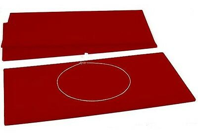 3 Red Tray Liners Plush Soft Velvet Jewelry Display Counter Display Pads
