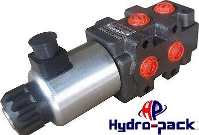 Wegeventil Wechselventil Umschaltventil 6/2 Wege 1/2 - 24V 90l/min Hydraulik