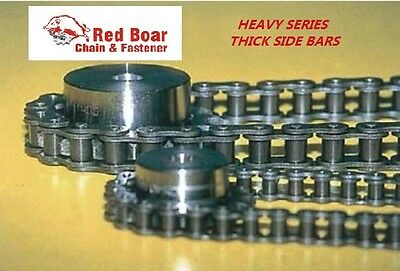 60h Heavy Roller Chain 10ft Wfree Connecting Link 60h-1r X 10ft Riveted