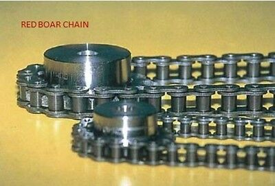 25 Roller Chain 10 Feet New From Factory With 2 Master Connecting Links.