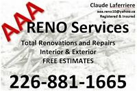 AAA Reno Services - construction / handy man