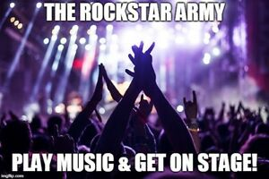 It's your time to shine - Start Playing Music, get on Stage Clgy