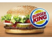 Crew Members and Managers wanted for our Fort Kinnaird Burger King.