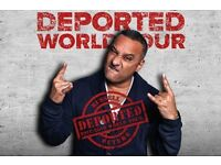 RUSSELL PETERS - Deported World Tour @ SSE Arena, London - GREAT FLOOR SEATS available