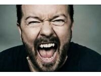 Ricky Gervais Tickets (x2) - Cardiff 6th March