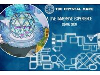 2x crystal maze tickets for Saturday 7th Jan 2017