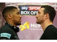 4 x tickets to ANTHONY JOSHUA vs WLADIMIR KLITSCHKO + Hospitality Package