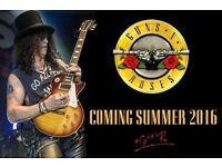 2 standing/unreserved seating tickets Guns n Roses Friday 16th June London Olympic Stadium