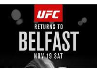 2x UFC Belfast Fight Night tickets - Lower West Tier Row K - £95 each face Value