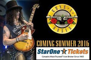 Guns N Roses: Saturday July 16, 2016 Tickets GOOD SEATS!!!!!!!!!