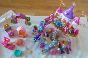 My Little Pony Collection with four play sets.
