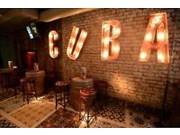 Part-time Restaurant host required for busy city centre bar. Revolucion de Cuba