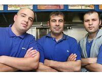 Experience Takeaway staff wanted for a shop in Jarrow, South Shields, Hebburn, Boldon Colliery area