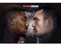 Anthony Joshua vs Kubrat Pulev - Cardiff Stadium - Lower, Middle and Upper Tier Tickets 28 Oct 2017