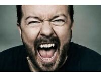 2 x Tickets Ricky Gervais | Humanity | Edinburgh | Fri 09/06/17