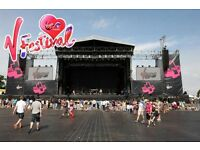 2 x Weekend camping tickets V festival Weston Park