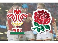 Wales v England RBS Six Nations Rugby Tickets X 6 Together