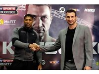 2 X Tickets - Anthony Joshua Vs Wladimir Klitschko April 29th SOLD OUT. Don't miss out