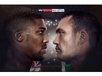 ANTHONY JOSHUA VS KUBRAT PULEV TICKETS - CHEAPEST ONLINE