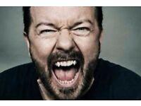 ***£20*** Ricky Gervais / Humanity / Edinburgh / 09 June
