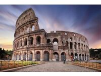 2 return tickets, London- Rome, 9 Apr- 13 Apr