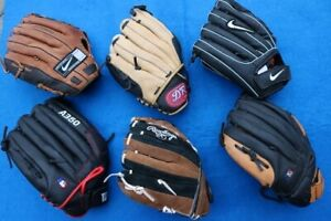 6 junior youth baseball glove leather gloves Nike DR Wilson Rawl