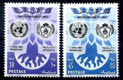 LIBIA INDIPENDENTE 1960 -  GIORNATA DEL RIFUGIATO SERIE  NUOVA **