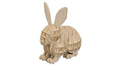 3D Paper Art Puzzle DIY kit Animal RABBIT BUNNY Toy Japan sigumi F/S +Tracking