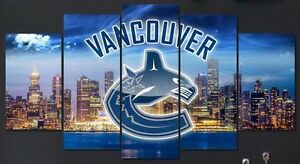 Brand new 5 panel Vancouver Canucks Canvas picture sets