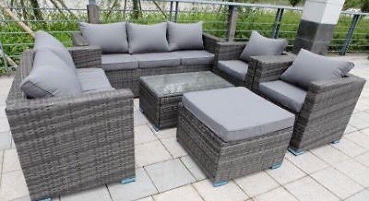 Grey rattan garden furniture set   in Hucknall ...