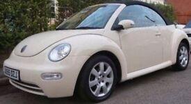 CREAM VW BEETLE LUNA CABRIOLET SOFT TOP CONVERTIBLE