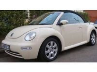 CREAM VW BEETLE LUNA CABRIOLET SOFT TOP CONVERTIBLE