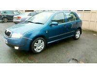 "QUICK SELL "" BARGAIN "" 1.4 SKODA FABIA 8vs LOW MILEAGE FOR AGE!"