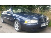 Volvo C70 2.0T Stunning Turbo Convertible Leather Interior Alloy Wheels Sporty Cabriolet Low Miles