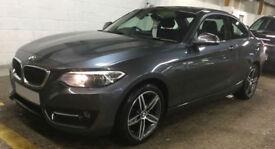 Grey BMW 218 2.0TD Auto 2016 d Sport FROM £77 PER WEEK!