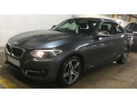 Grey BMW 218 2.0TD Auto 2016 d Sport FROM £77 PER WEEK!