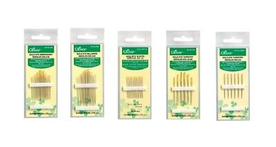 Clover Gold Eye Needles Sharps Tapestry Embroidery Milliners SELECT YOUR - Gold Eye Sharps Needles