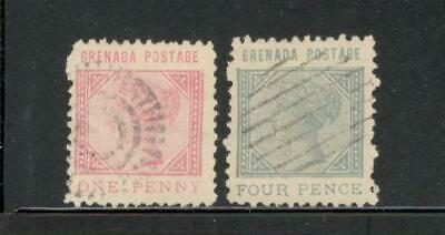 GRENADA - VICTORIA - #21 & 23 - USED - YR 1883